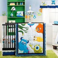 monsters inc 4 piece baby crib bedding