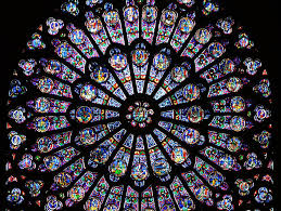 notre dame fire famed stained glass