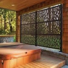 Freedom Allure Decorative Screen Frame Kit 50 25 In W X 77 75 In H Matte Black Aluminum Outdoor Privacy Screen Lowes Com Hot Tub Backyard Patio Design Privacy Fence Designs