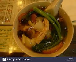 Chinese seafood soup Stock Photo - Alamy