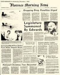 Florence Morning News Archives, Dec 1, 1976, p. 1