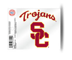 Usc Trojans Logo Static Cling Sticker New Window Or Car Ncaa Hub City Sports