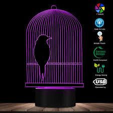 LỒNG CHIM 3D Ảo Ảnh Quang Học Để Bàn Đèn Ngủ LED Chim Treo Trang Trí Thanh  Lồng Chim Kid Phòng Đèn Ngủ đèn Bàn ánh sáng chim ánh sáng 3dđèn led -  AliExpress