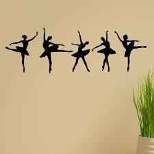 Shop Ballerina Dancers Vinyl Wall Graphic Decal Set Of 5 Overstock 7654645