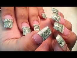 acrylic full set money nails art you