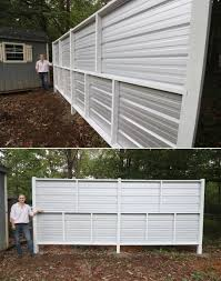 Corrugated Metal Wood Privacy Fence In 2020 Corrugated Metal Fence Wood Privacy Fence Metal Fence Panels