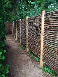 Wattle Fencing A Cheap Diy Material For Modern Outdoor Spaces Natural Fence Garden Privacy Cheap Fence