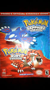 Good condition minor wear Pokemon game book guide to Ruby and Sapphire.  Great detail and notes for the games inside. | Sapphire pokemon, Pokemon,  Pokemon games