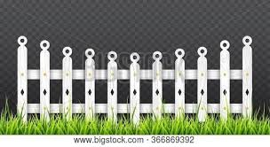 White Wooden Fence Vector Photo Free Trial Bigstock