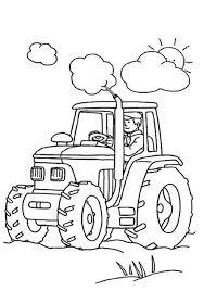 Kleurplaat Tractor 03 Topkleurplaat Nl