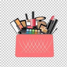 cosmetics handbag make up flat design