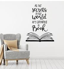 Vinyl Wall Decal Reading Room Books Shop Quote Library Stickers Mural Wallstickers4you