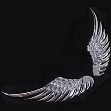 Amazon Com Kitmax Tm Pack Of 2 Pairs 3d Angel Wings Metal Auto Car Truck Laptop Ipad Window Wall Motorcycle Decor Decal Sticker Silver Home Improvement