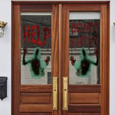 Halloween Help Blood Zombie Wall Sticker Decoration For Living Room Bedroom Window Glass Self Adhesive Wall Stickers Shop Wall Decals From Jiamm 4 87 Dhgate Com