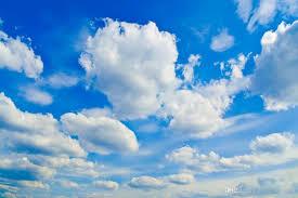 3d خلفيات صورة مخصصة سقف جدارية Wallpaperblue السماء البيضاء سحابة