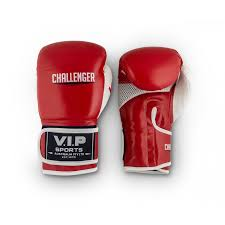 v i p challenger boxing gloves red