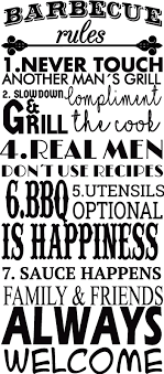 Funny Bbq Rules Text Sticker Tenstickers