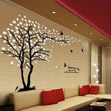 Crystal 3d Modern Tree Wall Art Stickers For Living Room Decoration Teme Store