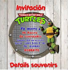 Invitacion Tortugas Ninja Diseno Y Creacion De Invitaciones