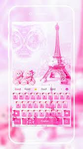 الوردي تيدي الحب في موضوع لوحة المفاتيح باريس For Android Apk