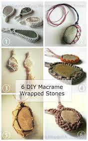 diy 6 macrame wrapped stone tutorials