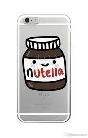 نوتيلا خلفيات Kawaii لطيف الهاتف الخليوي حالة لينة Tpu غطاء ل فون