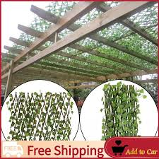 Free Shipping Expandable Artificial Ivy Leaf Fence Decor Privacy Screen Patio Yard Garden Lazada