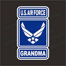 Air Force Grandma Airman Wings Usaf Bumper Sticker Window Decal