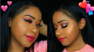 subtle eyes and pink lips makeup