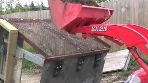 homemade soil screener sifter screening