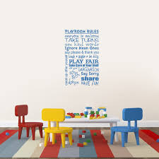 Playroom Rules Wall Decals Home Decor Wall Decals