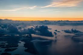 drone view of clouds above the long