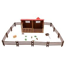 Simulation Mini Farmhouse Scene Haystack Model 14pcs Fences Fork Broom Wooden Box Children Farm Diy Toy Accessories Set Model Building Kits Aliexpress