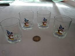 four disneyland paris shot glasses