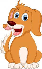 Cute Little Dog Cartoon Wall Decal Wallmonkeys Com