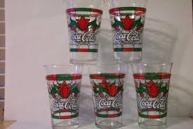 glasses set of 5 tulip design