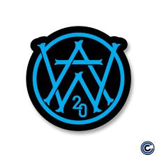 "Aaron West & The Roaring Twenties ""AW Black"" Sticker – Cold Cuts Merch"