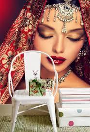 الساحرة الهندي النساء 3d صور خلفيات جدارية خلفية مخصصة متجر ماكياج
