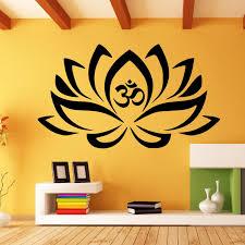 Mandala Wall Decal Namaste Om Sign With Lotus Flower Vinyl Etsy Wall Art Decor Flower Wall Decor Art Decor