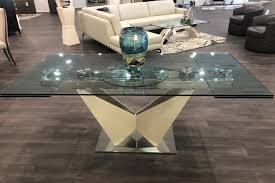 glass extension dining table
