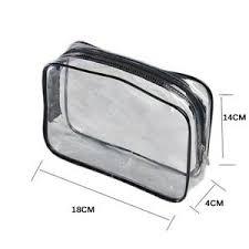 pvc zipper makeup wash bag pouch travel
