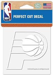 Amazon Com Wincraft Nba Indiana Pacers 4 X4 Inch White Decal Sticker Sports Outdoors