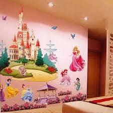 Large Colorful Princess Castle Wall Stickers Vinyl Decal Girls Kids Bedroom Art Kids Bedroom Vinyl Decalcastle Wall Stickers Aliexpress