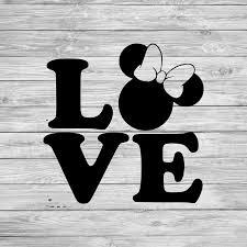 Minnie Love Disney Decal Vinyl Sticker Vehicle Yeti Etsy