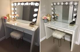 homemade vanity mirror with lights