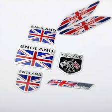 1 Pcs Uk England Flag 3d Aluminium Label Emblem Side Badge Car Stickers Long Square Shield For Jaguar Mini Mg Car Styling Car Stickers Aliexpress