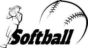 Image result for girls softball clip art
