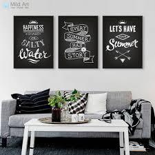hitam putih vintage retro tipografi musim panas quotes a kanvas