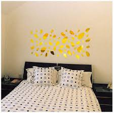 Amazon Com Acrylic Wall Sticker 12pcs 3d Mirror Vinyl Removable Wall Sticker Decal Home Decor Mural Art Diy Gold Home Kitchen