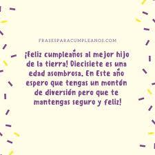 Felicitaciones De Cumpleanos 17 Anos Diecisiete Frasescumpleanos
